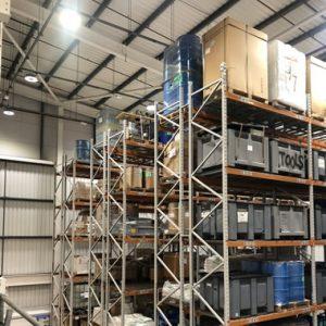 Narrow Ailse warehouse LED Lighting