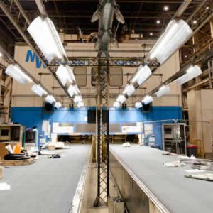 Automotive Press Shop LED Lighting upgrade