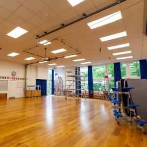 School Hall LED lighting