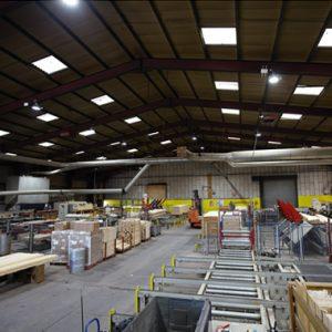 Timber factory LED lighting